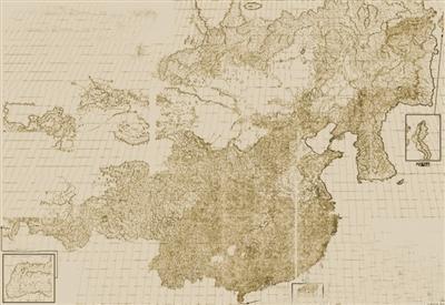 默克尔送中国地图 默克尔赠古中国地图