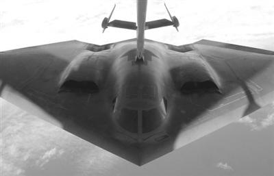 隐形飞机在飞行到