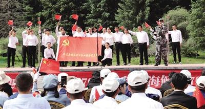 """祁连:""""两新""""组织党旗飘扬"""