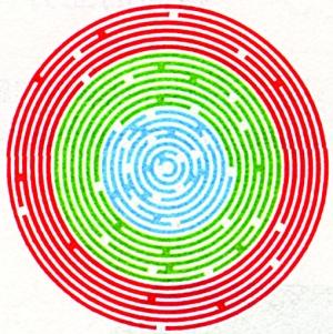 数字迷宫矢量图