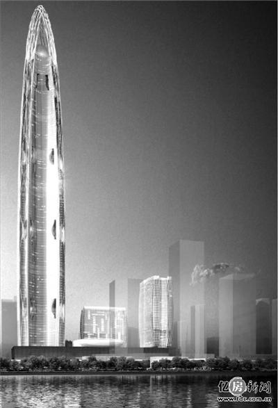 大楼主塔底座俯视图成