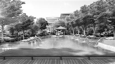 改造后的黄河路小游园效果图 本报记者 吴亚春 翻拍
