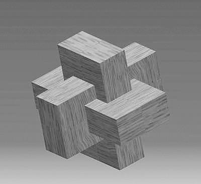新孔明锁16根拼装图解