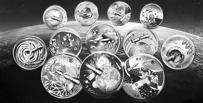 神舟飞船纪念币大全套由中国航天基金会授权